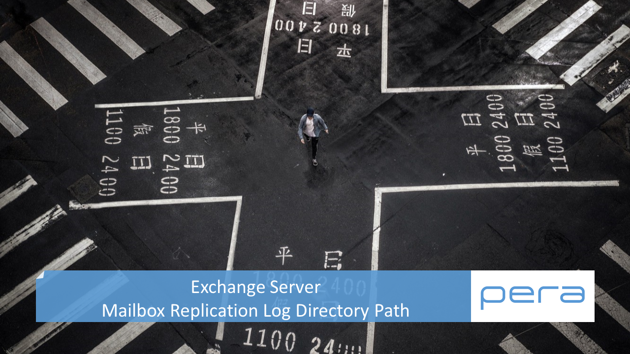 Exchange Server Mailbox Replication Log Directory Path